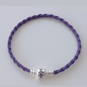Pandora Jewelry - Purple Leather Pandora Bracelet